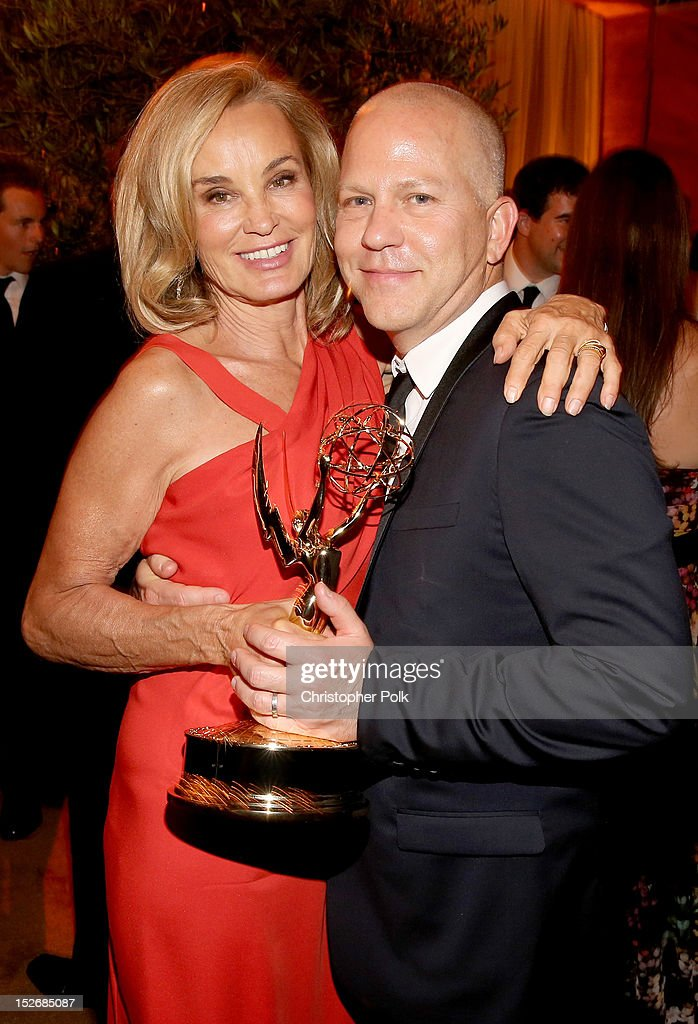 Actress Jessica Lange and Producer Ryan Murphy attend the FOX Broadcasting Company, Twentieth Century FOX Television and FX 2012 Post Emmy party at Soleto on September 23, 2012 in Los Angeles, California.
