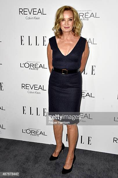 Actress Jessica Lange arrives at ELLE's 21st Annual Women In Hollywood at Four Seasons Hotel Los Angeles at Beverly Hills on October 20 2014 in...