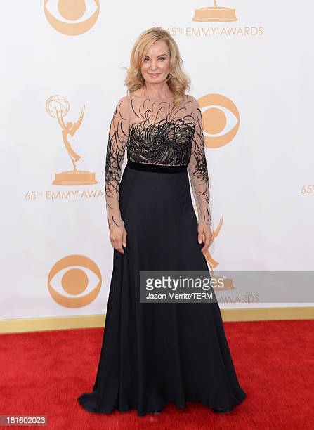 Actress Jessica Lange arrives at the 65th Annual Primetime Emmy Awards held at Nokia Theatre LA Live on September 22 2013 in Los Angeles California