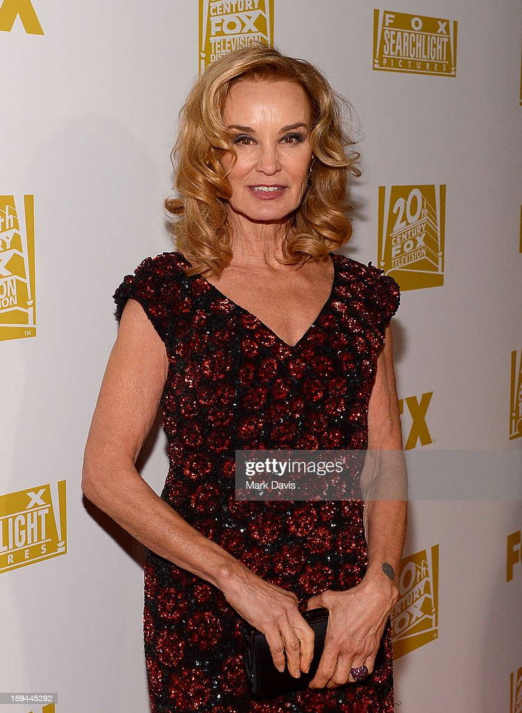 Actress <a gi-track='captionPersonalityLinkClicked' href=/galleries/search?phrase=Jessica+Lange&family=editorial&specificpeople=203310 ng-click='$event.stopPropagation()'>Jessica Lange</a> arrives at the FOX After Party for the 70th Annual Golden Globe Awards held at The FOX Pavillion at The Beverly Hilton Hotel on January 13, 2013 in Beverly Hills, California.