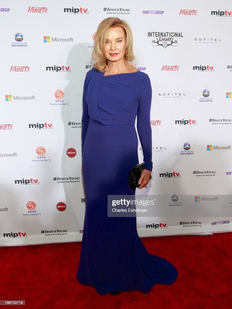 Actress <a gi-track='captionPersonalityLinkClicked' href=/galleries/search?phrase=Jessica+Lange&family=editorial&specificpeople=203310 ng-click='$event.stopPropagation()'>Jessica Lange</a> attends the 40th International Emmy Awards at Mercury Ballroom at the New York Hilton on November 19, 2012 in New York City.