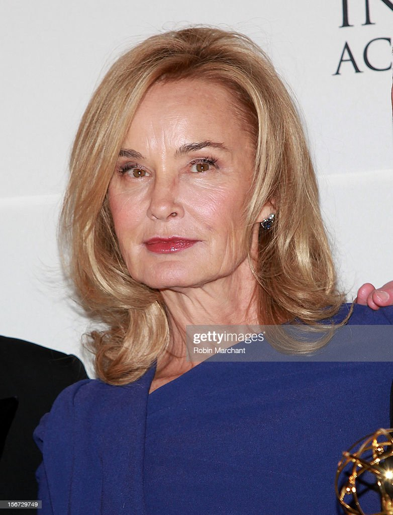 Actress <a gi-track='captionPersonalityLinkClicked' href=/galleries/search?phrase=Jessica+Lange&family=editorial&specificpeople=203310 ng-click='$event.stopPropagation()'>Jessica Lange</a> attends the 40th International Emmy Awards on November 19, 2012 in New York City.