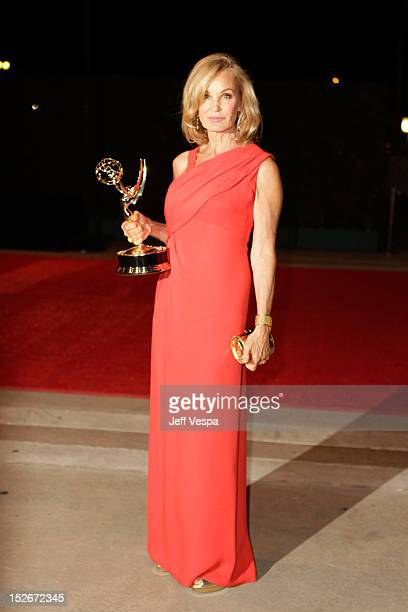 Actress Jessica Lange attends the 64th Primetime Emmy Awards Governors Ball at Los Angeles Convention Center on September 23 2012 in Los Angeles...