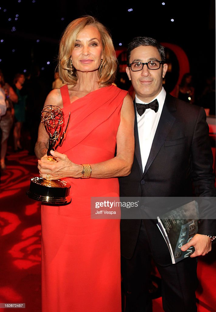 Actress <a gi-track='captionPersonalityLinkClicked' href=/galleries/search?phrase=Jessica+Lange&family=editorial&specificpeople=203310 ng-click='$event.stopPropagation()'>Jessica Lange</a> (L) attends the 64th Primetime Emmy Awards Governors Ball at Los Angeles Convention Center on September 23, 2012 in Los Angeles, California.