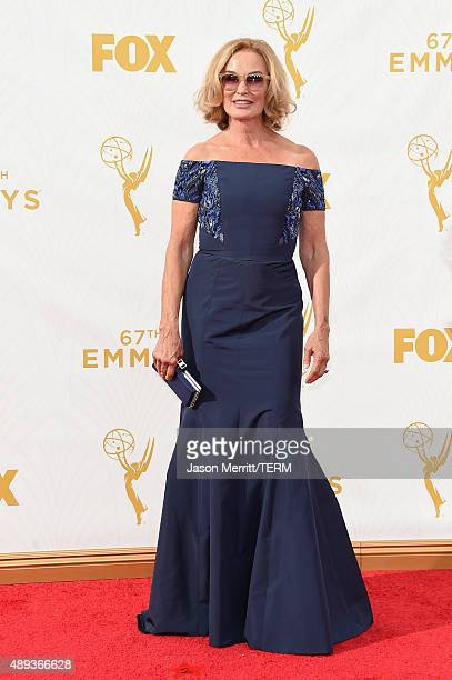 Actress Jessica Lange attends the 67th Annual Primetime Emmy Awards at Microsoft Theater on September 20 2015 in Los Angeles California
