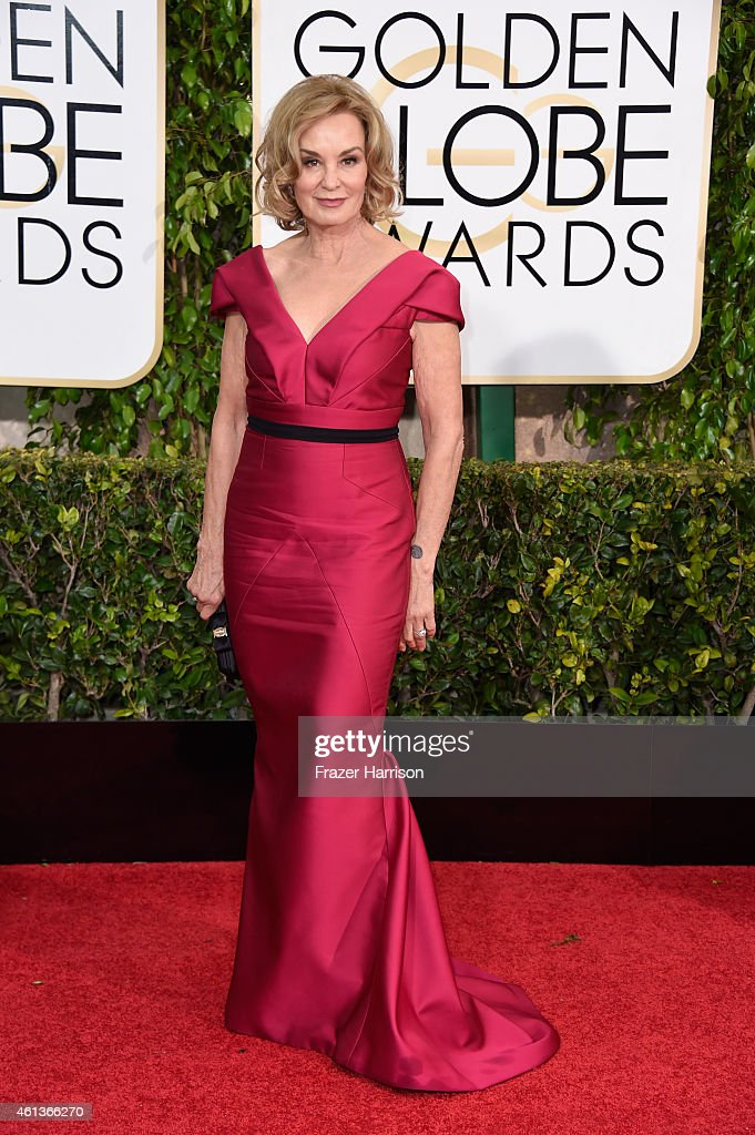 Actress <a gi-track='captionPersonalityLinkClicked' href=/galleries/search?phrase=Jessica+Lange&family=editorial&specificpeople=203310 ng-click='$event.stopPropagation()'>Jessica Lange</a> attends the 72nd Annual Golden Globe Awards at The Beverly Hilton Hotel on January 11, 2015 in Beverly Hills, California.