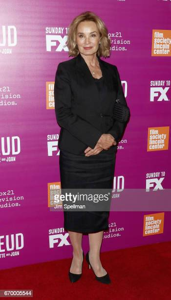 Actress Jessica Lange attends the 'Feud Bette and Joan' NYC event at Alice Tully Hall at Lincoln Center on April 18 2017 in New York City