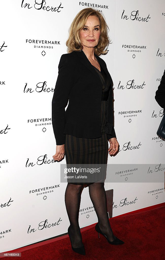 Actress <a gi-track='captionPersonalityLinkClicked' href=/galleries/search?phrase=Jessica+Lange&family=editorial&specificpeople=203310 ng-click='$event.stopPropagation()'>Jessica Lange</a> attends the premiere of 'In Secret' at ArcLight Hollywood on February 6, 2014 in Hollywood, California.
