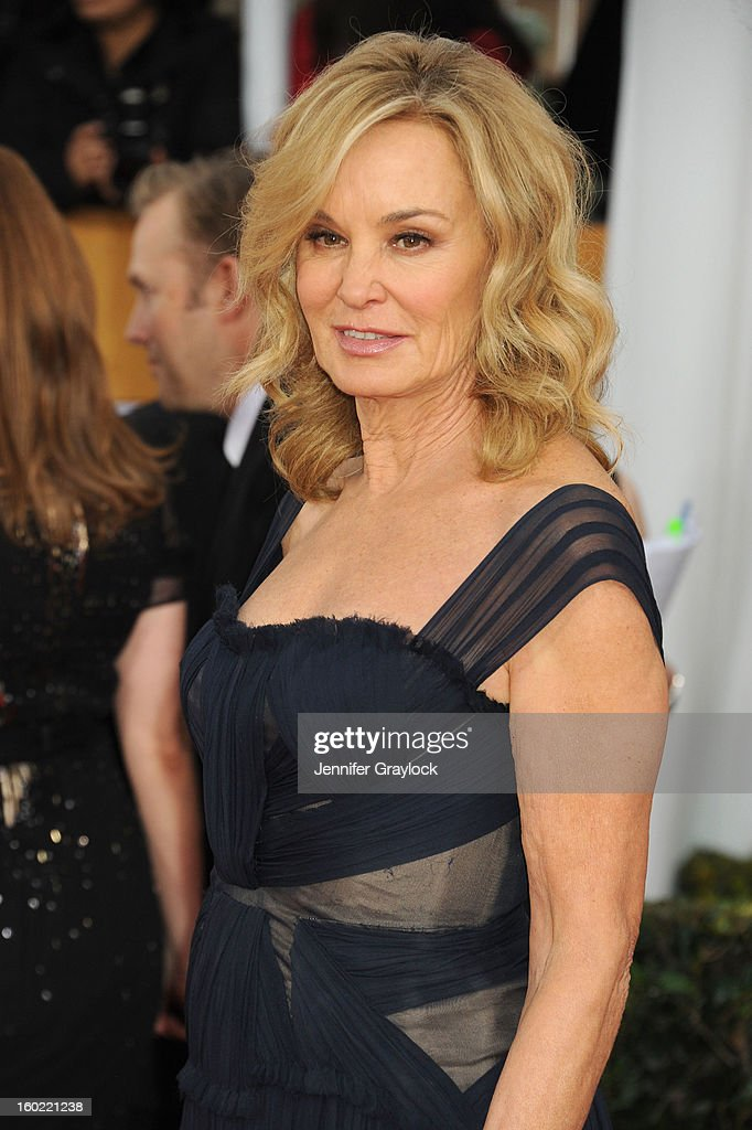 Actress <a gi-track='captionPersonalityLinkClicked' href=/galleries/search?phrase=Jessica+Lange&family=editorial&specificpeople=203310 ng-click='$event.stopPropagation()'>Jessica Lange</a> during the 19th Annual Screen Actors Guild Awards Arrivals held at The Shrine Auditorium on Sunday January 27, 2013 in Los Angeles, California.