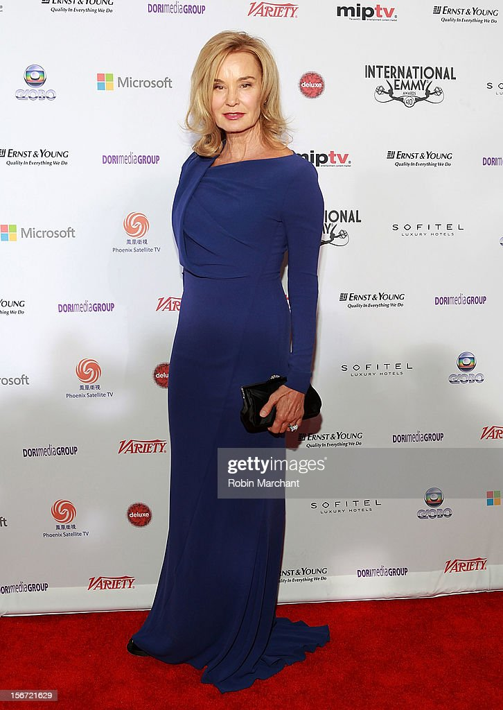 Actress Jessica Lange in ESCADA dress attends the 40th International Emmy Awards on November 19, 2012 in New York City.