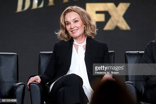 Actress Jessica Lange of the television show 'Feud' speaks onstage during the FX portion of the 2017 Winter Television Critics Association Press Tour...