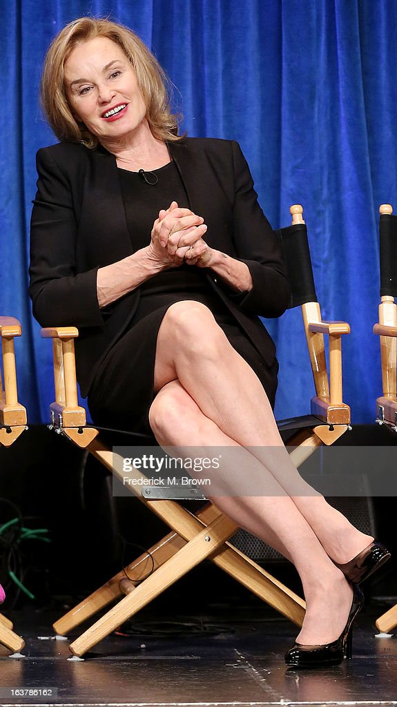 Actress <a gi-track='captionPersonalityLinkClicked' href=/galleries/search?phrase=Jessica+Lange&family=editorial&specificpeople=203310 ng-click='$event.stopPropagation()'>Jessica Lange</a> speaks during The Paley Center For Media's PaleyFest 2013 Honoring 'American Horror Story: Asylum' at the Saban Theatre on March 15, 2013 in Beverly Hills, California.