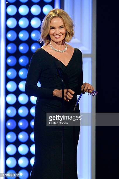Actress Jessica Lange speaks onstage at the 5th Annual Critics' Choice Television Awards at The Beverly Hilton Hotel on May 31 2015 in Beverly Hills...