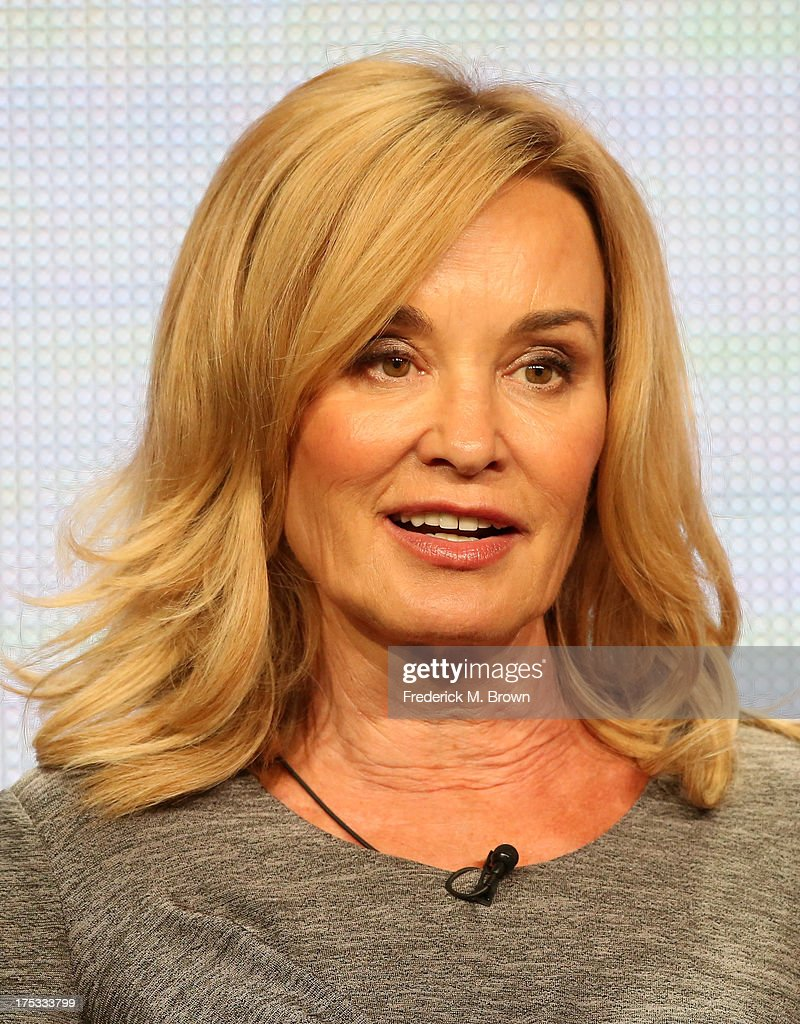 Actress <a gi-track='captionPersonalityLinkClicked' href=/galleries/search?phrase=Jessica+Lange&family=editorial&specificpeople=203310 ng-click='$event.stopPropagation()'>Jessica Lange</a> speaks onstage during the 'American Horror Story: Coven' panel discussion at the FX portion of the 2013 Summer Television Critics Association tour - Day 10 at The Beverly Hilton Hotel on August 2, 2013 in Beverly Hills, California.