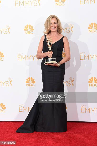 Actress Jessica Lange winner of the Outstanding Lead Actress in a Miniseries or Movie Award for 'American Horror Story Coven' poses in the press room...