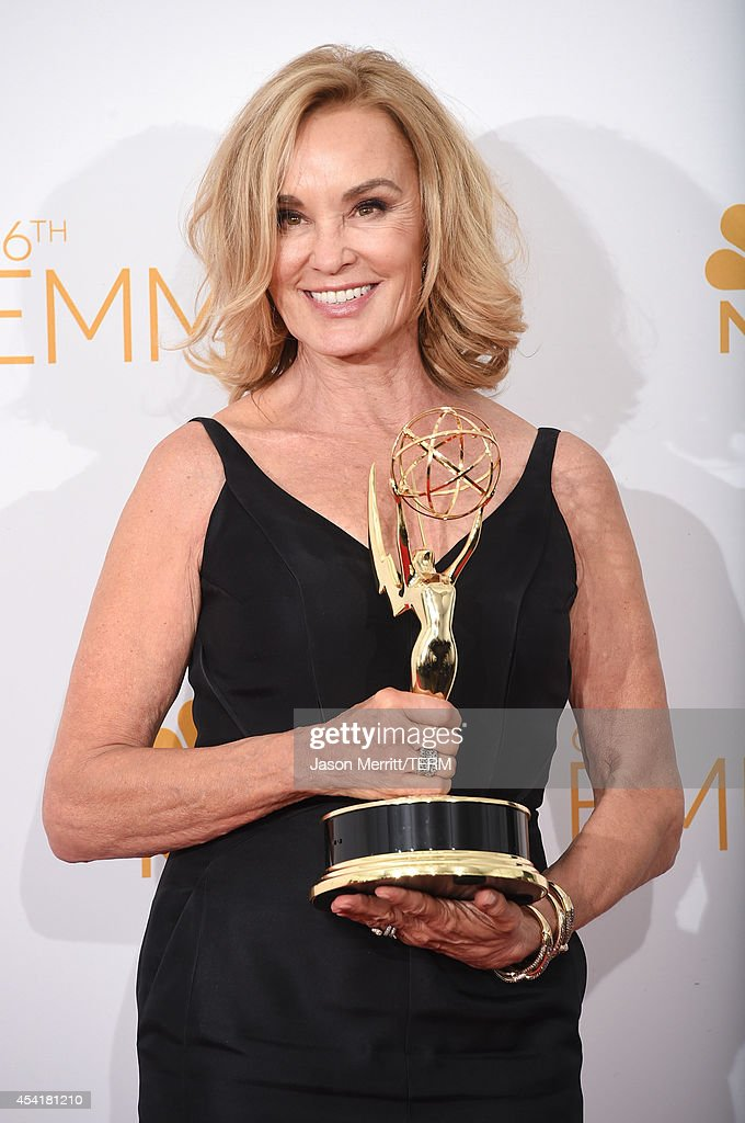 Actress Jessica Lange, winner of the Outstanding Lead Actress in a Miniseries or Movie Award for 'American Horror Story: Coven' poses in the press room during the 66th Annual Primetime Emmy Awards held at Nokia Theatre L.A. Live on August 25, 2014 in Los Angeles, California.