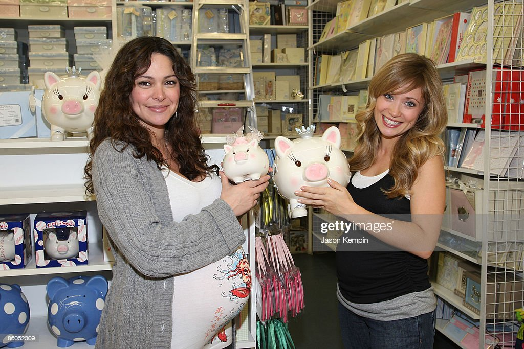 Actress Jessica Leccia and actress Marcy Rylan shop at Buy Buy Baby on April 20, 2009 in New York City.