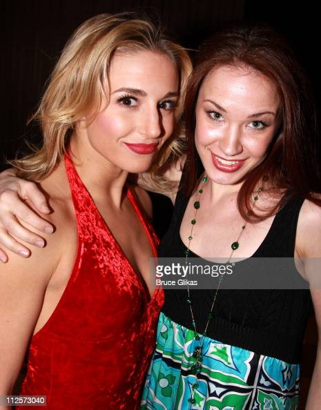 Actress Jessica Lee Goldyn and Actress Sierra Boggess pose at Broadway Backwards 3 benefiting the Lesbian Gay Bisexual Transgender Community Center...