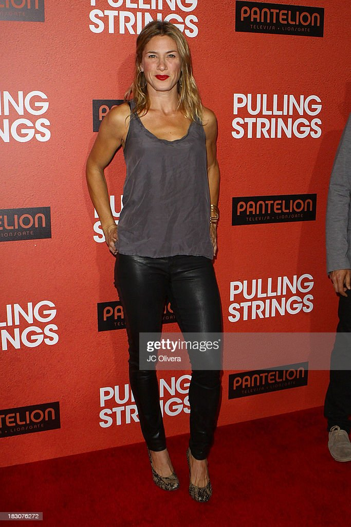 Actress Jessica Lindsey attends the Los Angeles Premiere of 'Pulling Strings' at Regal Cinemas L.A. Live on October 3, 2013 in Los Angeles, California.