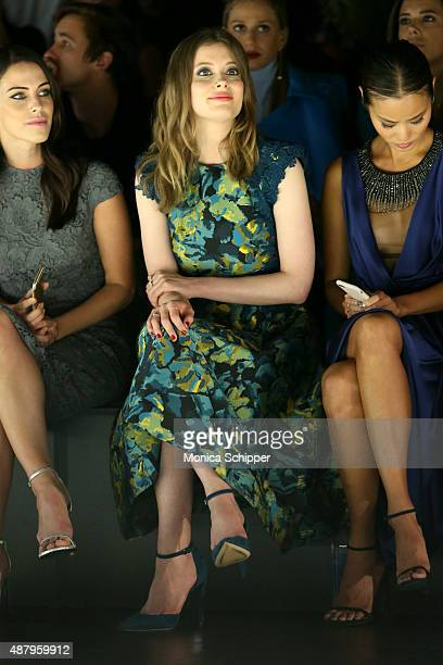 Actress Jessica Lowndes actress Gillian Jacobs and actress Jamie Chung attend Monique Lhuillier Spring 2016 during New York Fashion Week The Shows at...
