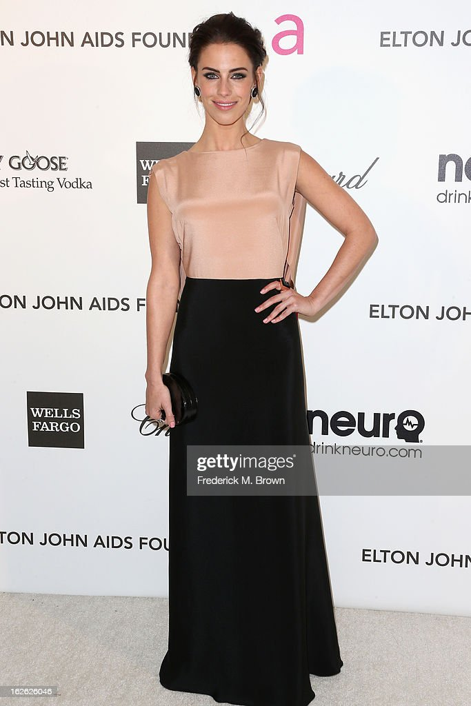 Actress Jessica Lowndes arrives at the 21st Annual Elton John AIDS Foundation's Oscar Viewing Party on February 24, 2013 in Los Angeles, California.