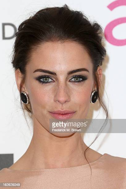 Actress Jessica Lowndes arrives at the 21st Annual Elton John AIDS Foundation's Oscar Viewing Party on February 24 2013 in Los Angeles California