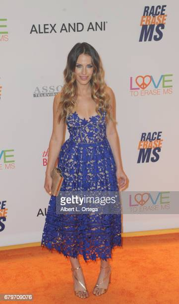 Actress Jessica Lowndes arrives for the 24th Annual Race To Erase MS Gala held at The Beverly Hilton Hotel on May 5 2017 in Beverly Hills California