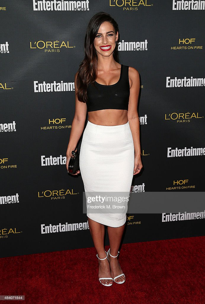 Actress Jessica Lowndes attends Entertainment Weekly's Pre Emmy Party at the Fig & Olive Melrose Place on August 23, 2014 in West Hollywood, California.