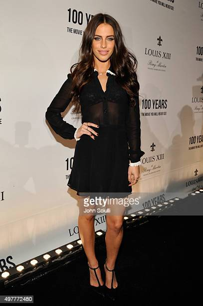Actress Jessica Lowndes attends Louis XIII Celebration of '100 Years' The Movie You Will Never See starring John Malkovich at a private residence on...