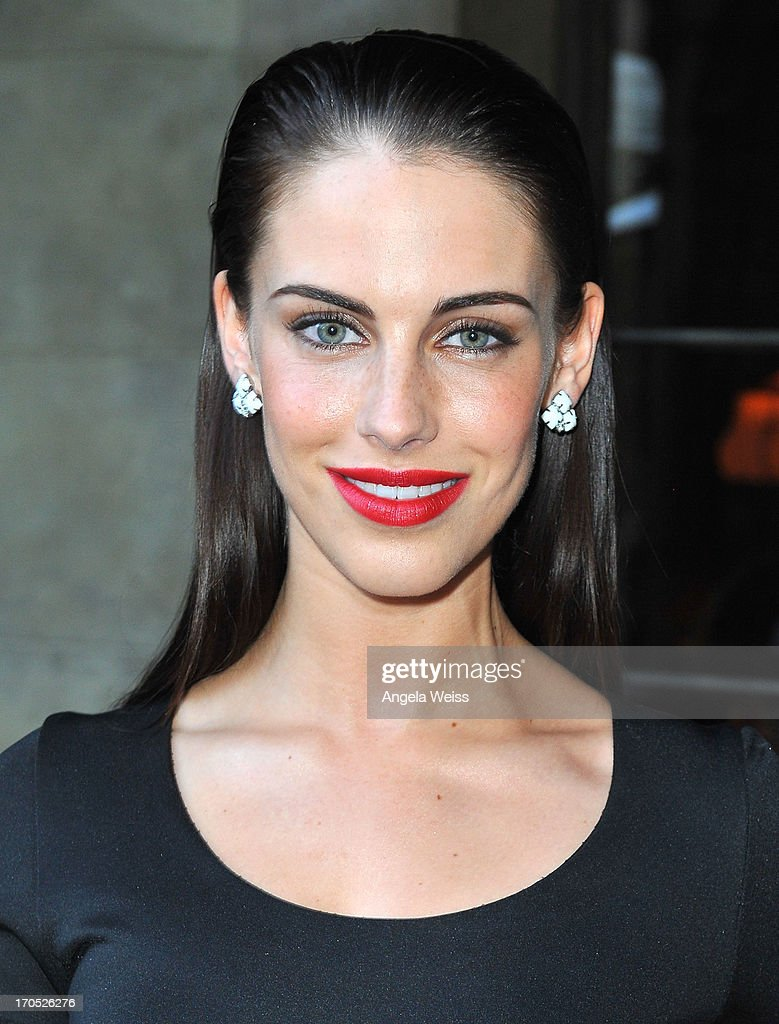 Actress Jessica Lowndes attends Lucky Brand's Measure of Style Dinner at Chateau Marmont on June 13, 2013 in Los Angeles, California.