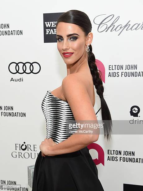Actress Jessica Lowndes attends the 23rd Annual Elton John AIDS Foundation Academy Awards Viewing Party on February 22 2015 in Los Angeles California