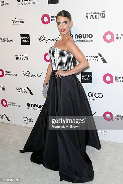 Actress Jessica Lowndes attends the 23rd Annual Elton John AIDS Foundation's Oscar Viewing Party on February 22 2015 in West Hollywood California