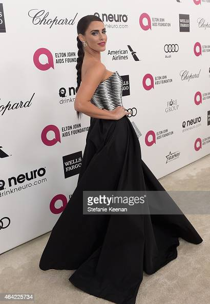 Actress Jessica Lowndes attends the 23rd Annual Elton John AIDS Foundation Academy Awards viewing party with Chopard on February 22 2015 in Los...