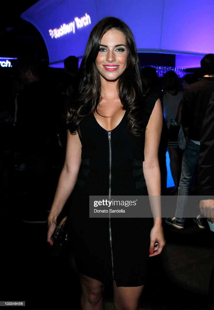 Actress Jessica Lowndes attends the BlackBerry Torch from ATT US Launch Party on August 11 2010 in Los Angeles California