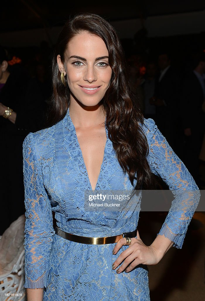 Actress Jessica Lowndes attends the BVLGARI celebration of Elizabeth Taylor's collection of BVLGARI jewelry at BVLGARI Beverly Hills on February 19, 2013 in Los Angeles, California.