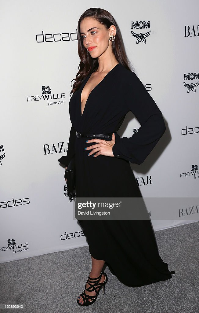 Actress Jessica Lowndes attends the Harper's BAZAAR celebration of Cameron Silver and Christos Garkinos of Decades new Bravo series 'Dukes of Melrose' at The Terrace at Sunset Tower on February 28, 2013 in West Hollywood, California.