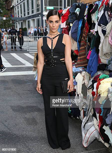 Actress Jessica Lowndes attends 'Uniform' Heron Preston For DSNY Presentation September 2016 during New York Fashion Week at DSNY Salt Shed on...