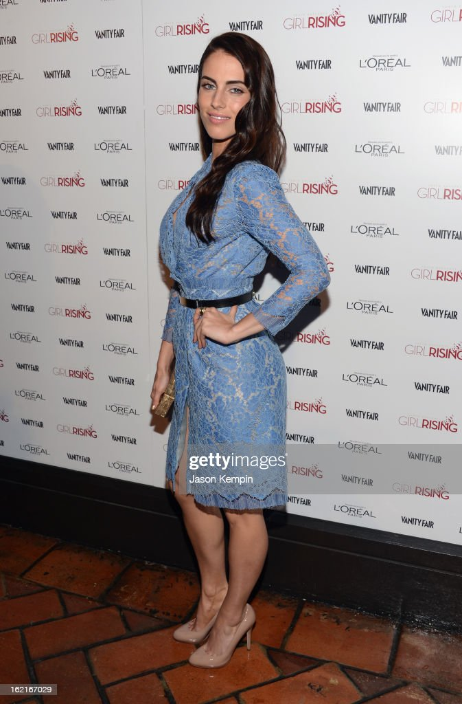Actress Jessica Lowndes attends Vanity Fair and L'Oréal Paris-hosted D.J. Night with Freida Pinto in support of 10 x 10 and 'Girl Rising' at Teddy's at The Hollywood Roosevelt Hotel on February 19, 2013 in Los Angeles, California.