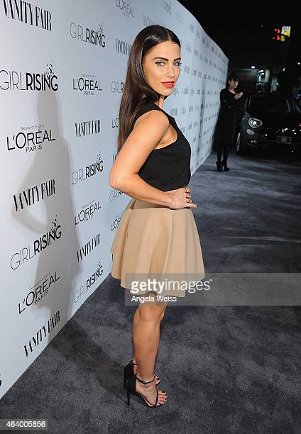 Actress Jessica Lowndes attends VANITY FAIR and L'Oreal Paris DJ Night hosted by Freida Pinto to benefit Girl Rising at 1OAK on February 20 2015 in...