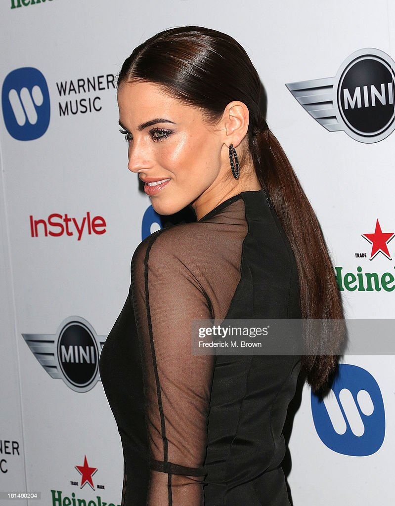 Actress <a gi-track='captionPersonalityLinkClicked' href=/galleries/search?phrase=Jessica+Lowndes&family=editorial&specificpeople=3960270 ng-click='$event.stopPropagation()'>Jessica Lowndes</a> attends Warner Music Group's 2013 Grammy Celebration at Chateau Marmont's Bar Marmont on February 10, 2013 in Hollywood, California.