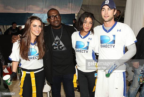 Actress Jessica Lowndes TV Personality Randy Jackson actress Jessica Szohr and actor Chace Crawford compete in DIRECTV's Fifth Annual Celebrity Beach...