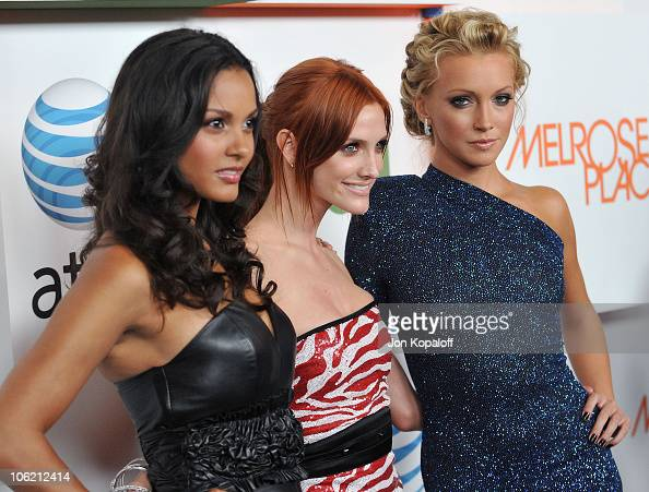 Actress Jessica Lucas actress/singer Ashlee SimpsonWentz and actress Katie Cassidy arrive at the 'Melrose Place' Premiere Party at Melrose Place on...