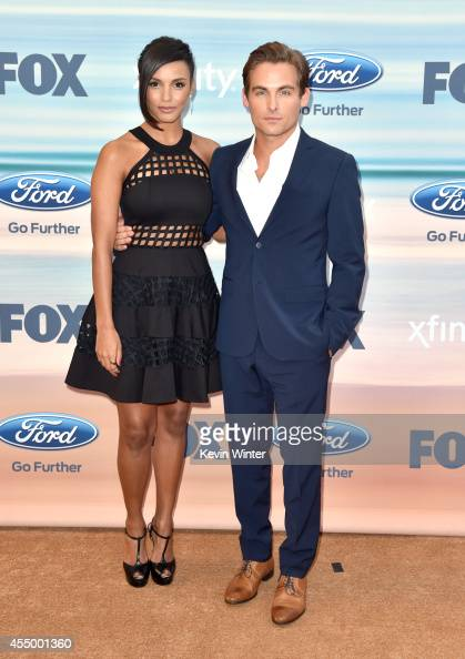 Actress Jessica Lucas and Kevin Zegers attend the 2014 FOX Fall EcoCasino party at The Bungalow on September 8 2014 in Santa Monica California