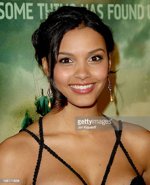 Actress Jessica Lucas arrives at the Los Angeles Premiere 'Cloverfield' at Paramount Studios on January 16 2008 in Los Angeles California
