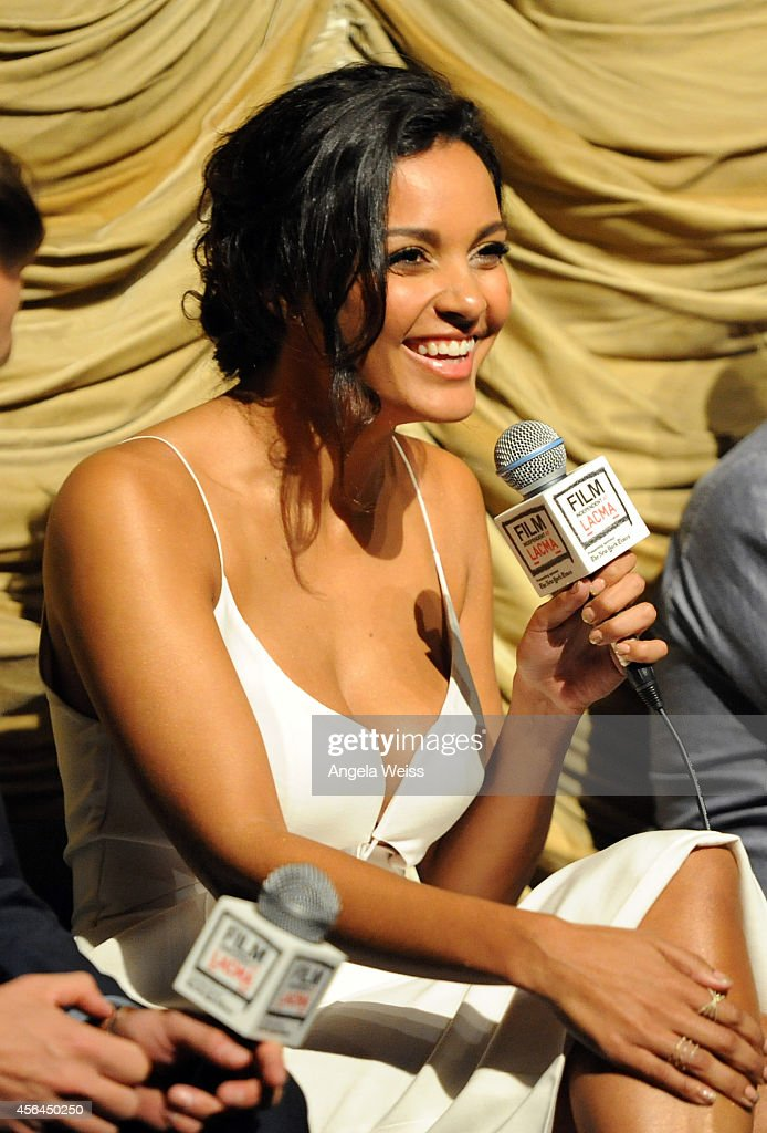 Actress Jessica Lucas attends the Film Independent Screening and QA of 'Gracepoint' at Bing Theatre at LACMA on September 30 2014 in Los Angeles...