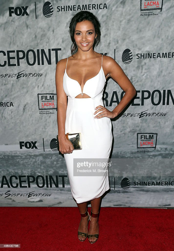 Actress Jessica Lucas attends the Film Independent Screening Series of 'Gracepoint' at the Bing Theatre at LACMA on September 30 2014 in Los Angeles...