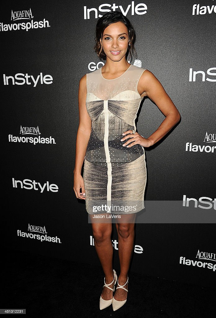 Actress Jessica Lucas attends the Miss Golden Globe event at Fig Olive Melrose Place on November 21 2013 in West Hollywood California