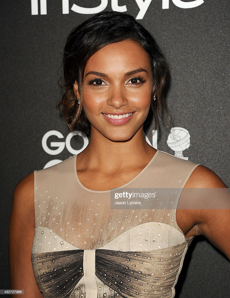 Actress Jessica Lucas attends the Miss Golden Globe event at Fig & Olive Melrose Place on November 21, 2013 in West Hollywood, California.