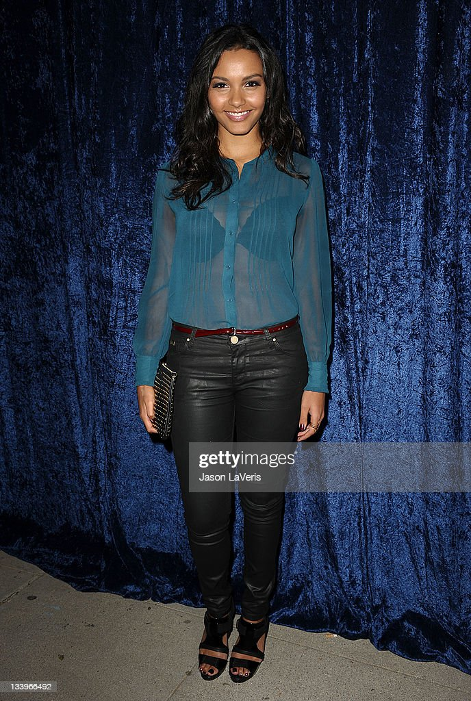 Actress <a gi-track='captionPersonalityLinkClicked' href=/galleries/search?phrase=Jessica+Lucas&family=editorial&specificpeople=837310 ng-click='$event.stopPropagation()'>Jessica Lucas</a> attends the 'Super 8' blu-ray and DVD release party at AMPAS Samuel Goldwyn Theater on November 22, 2011 in Beverly Hills, California.