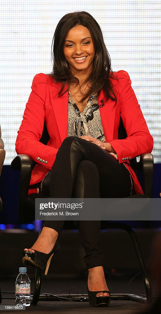 Actress Jessica Lucas of the television show 'Cult' speaks during the CW Network portion of the 2013 Winter Television Critics Association Press Tour at the Langham Huntington Hotel & Spa on January 13, 2013 in Pasadena, California.